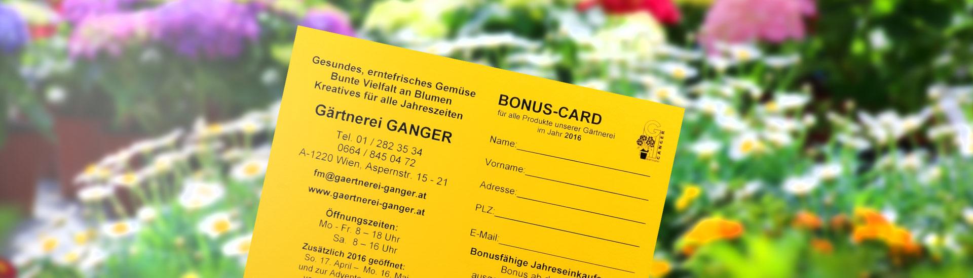 Gärtnerei Ganger | Bonuscard